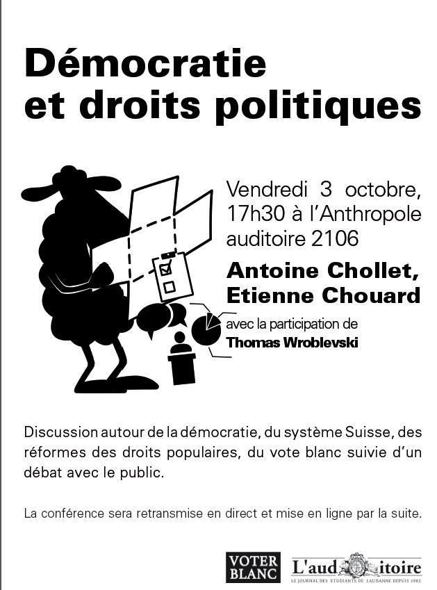 Affiche Lausanne 3 octobre 2014