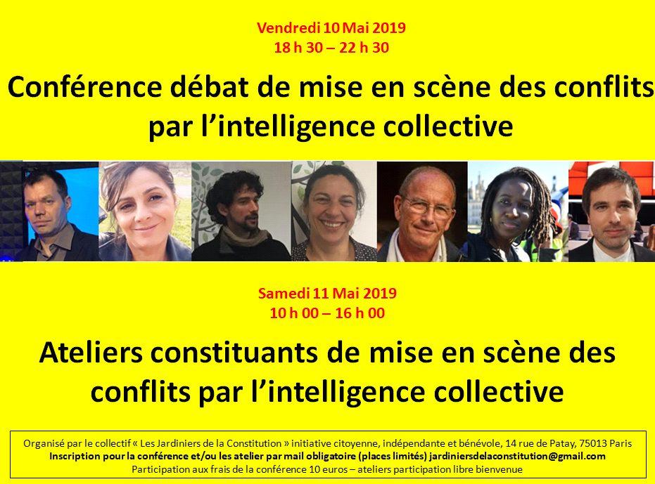 Rendez-vous à Paris le 10 mai pour un débat et des ateliers constituants sur le thème «mise en scène des conflits par l'intelligence collective»