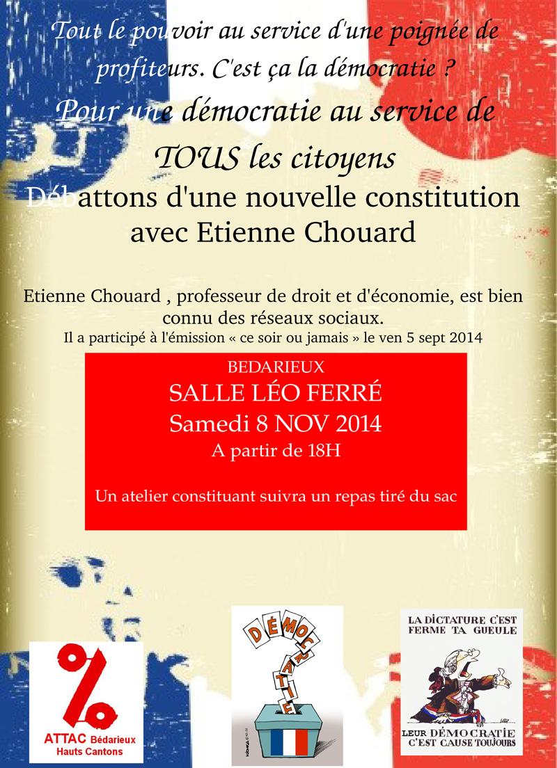 Affiche Attac Bédarieux 8 novembre 2014