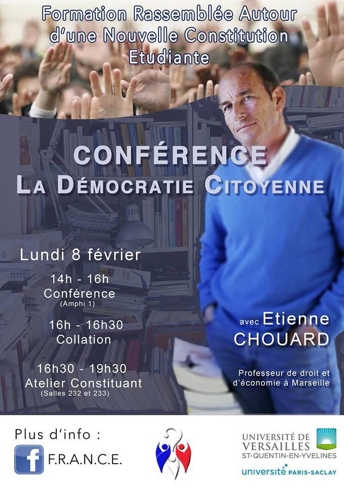 Rendez-vous à Paris, lundi 8 février, pour un atelier constituant avec des étudiants