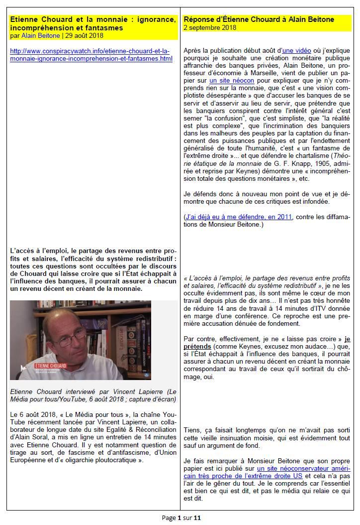 [Controverse sur la monnaie et les banques] Mes réponses à Alain Beitone, qui conteste l'alternative monétaire chartaliste (création monétaire publique) et ma «vision complotiste désespérante», moi qui dénonce la prédation déchaînée des banquiers contre les peuples
