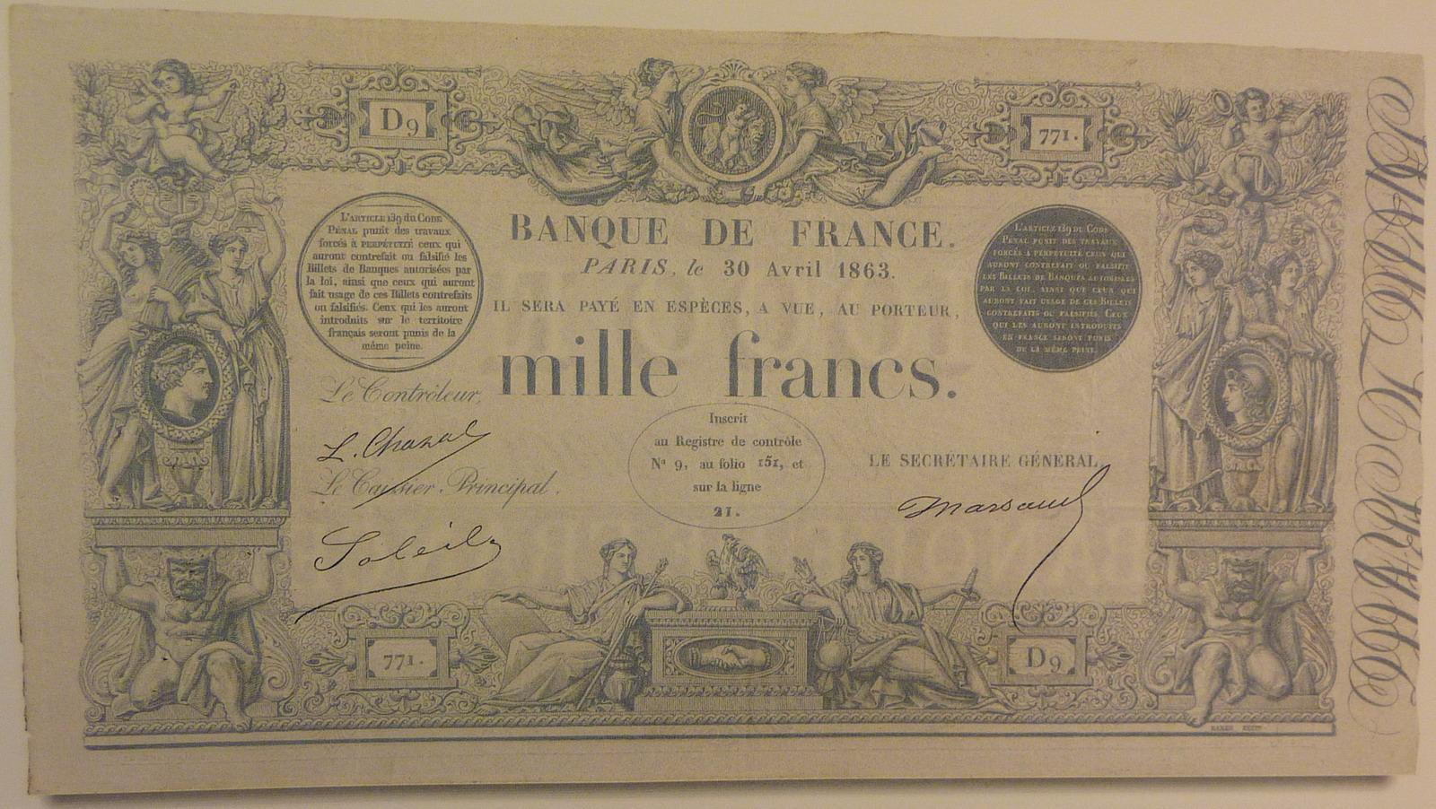 Billet 1862