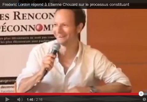 Frédéric Lordon: souveraineté, démocratie, et processus constituant populaire