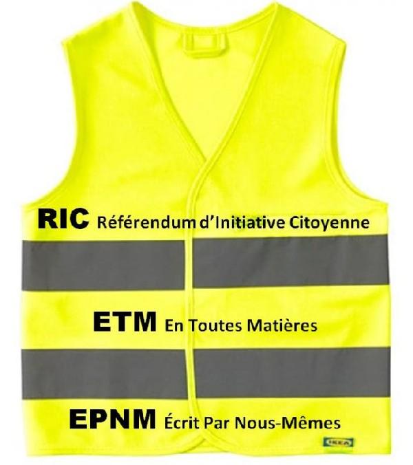 EXEMPLAIRE Saint-Clair-du-Rhône, «Capitale du RIC»:) les #GiletsJaunesConstituants organisent eux-mêmes, sans rien attendre de leurs maîtres, un RIC populaire sur… le souhait populaire d'un vrai RIC ETM en toutes matières