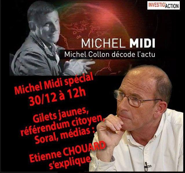 Rendez-vous avec Michel Collon dimanche prochain, 30 déc. 2018, de 12h à 13h