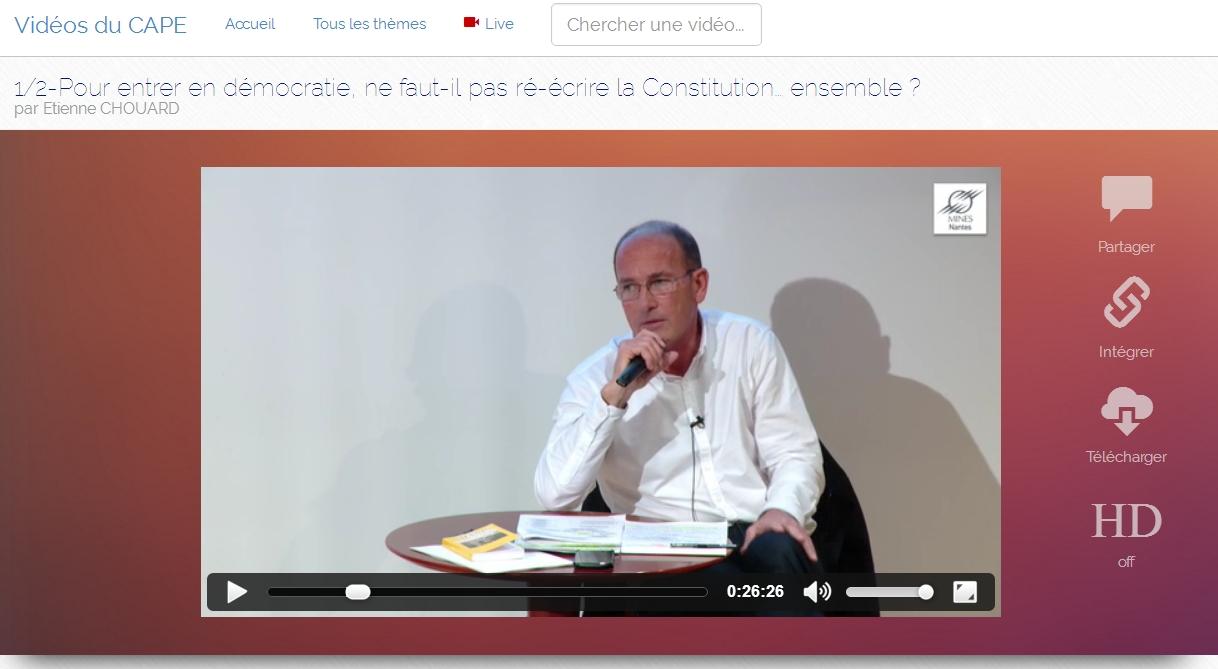 [Vidéos] Conférence et débats, Nantes-école des Mines, 6 avril 2016, les films sont disponibles
