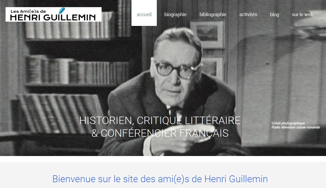 Pour Les Ami(e)s d'Henri Guillemin: nouvelle association, nouveau site, prochaine conférence de Patrick Rödel