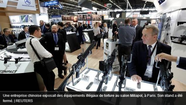 Union européenne. Amnesty découvre que des équipements de torture illégaux (sic) sont en vente à Paris (au salon «Milipol»)