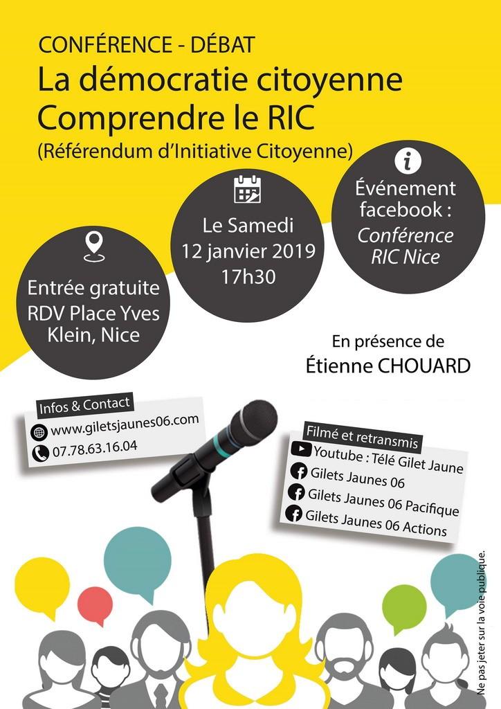 [#GiletsJaunesConstituants]Rendez-vous à Nice, samedi 12 janvier 2019