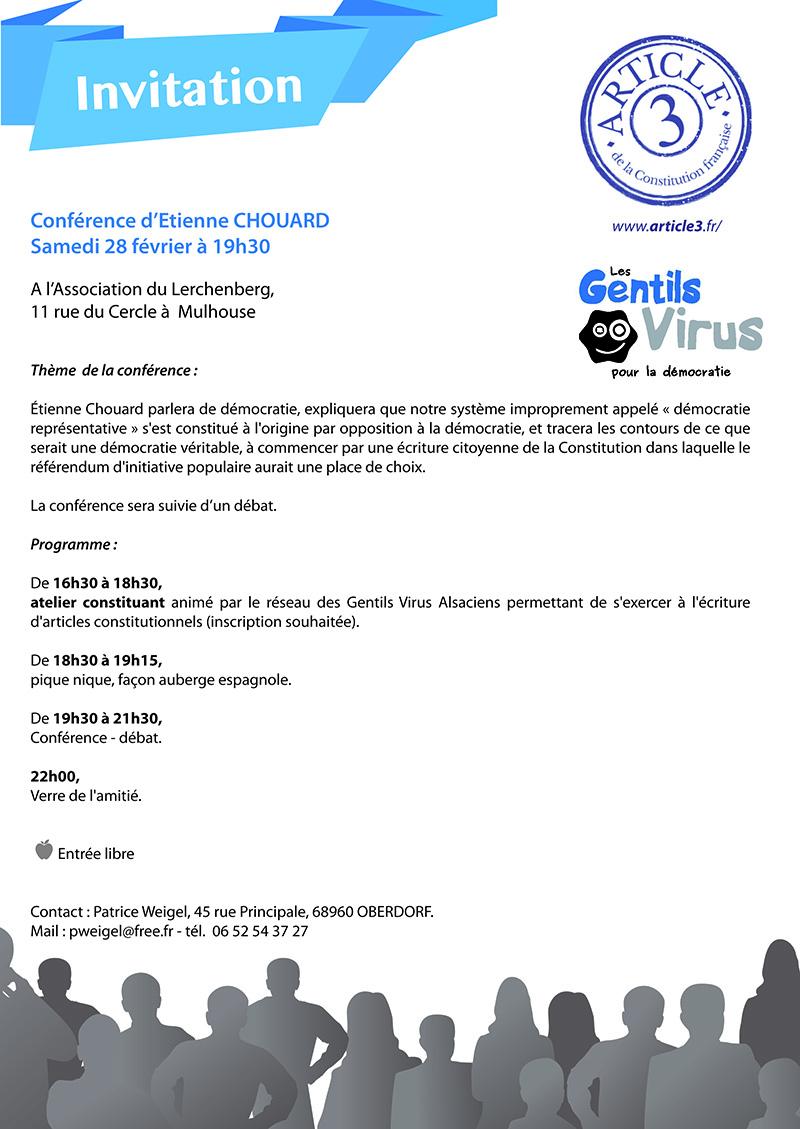 Rendez-vous à Bordeaux le 19 février 2015, et à Mulhouse le 28