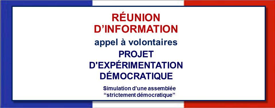 Projet d'expérimentation démocratique, mobilisation des volontaires: nouveau Mumble d'information prévu le 25 janvier 2018