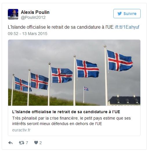 [De vrais représentants nous sortiraient de l'UE, au lieu de nous y enfermer] Miracle à l'islandaise: à Reykjavik, le taux de chômage est tombé à 1,9%