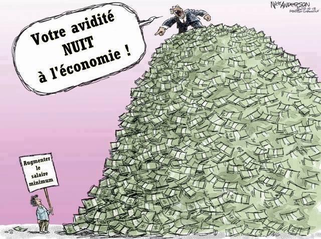Votre avidité nuit à l'économie !